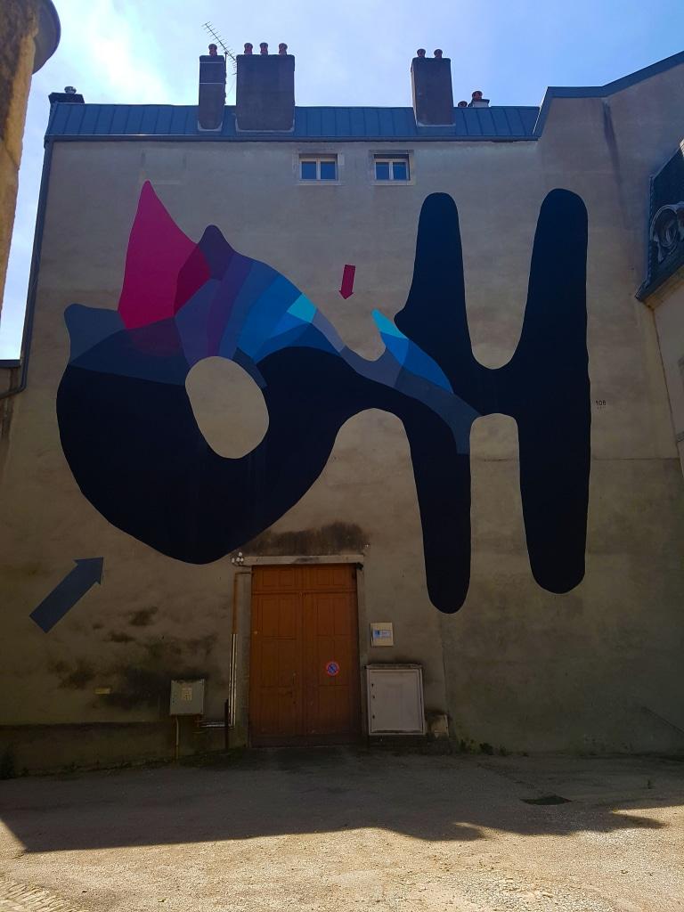 Le street art de 108, 28 rue Megevand à Besançon