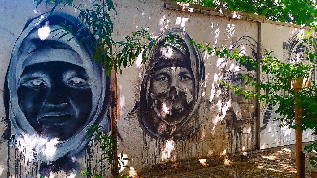 street art sur la crise des réfugiés, Athènes, Grèce