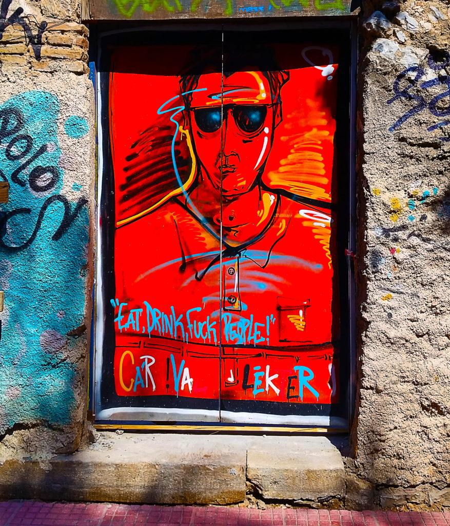 street art sur la colère à Athènes, Grèce