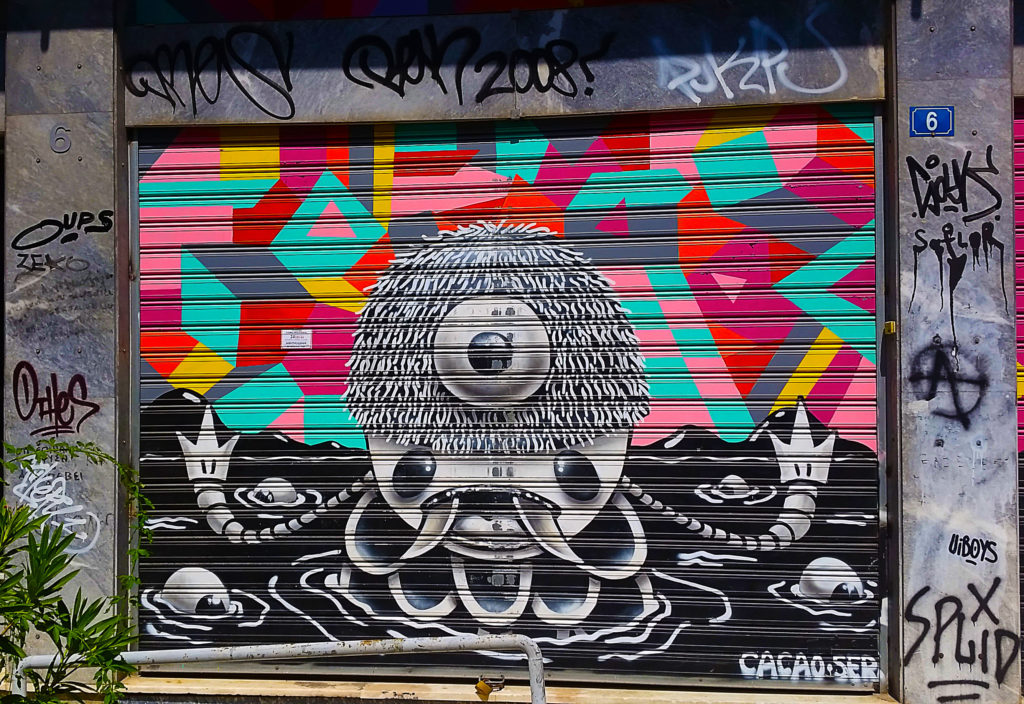 street art sur les réfugiés, Athènes, Grèce