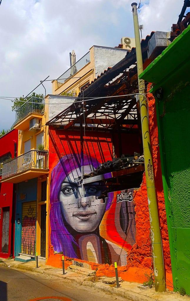street art d'Achilles dans Athènes, Grèce