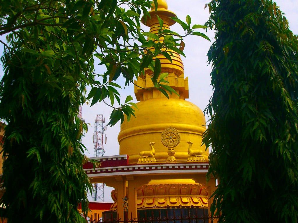 Stupa à Bodhgaya, Bihar, Inde