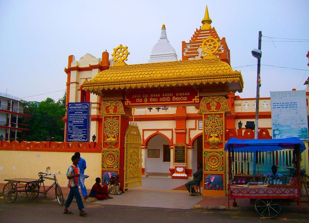 Temple tibétain à Bodhgaya, Bihar, Inde