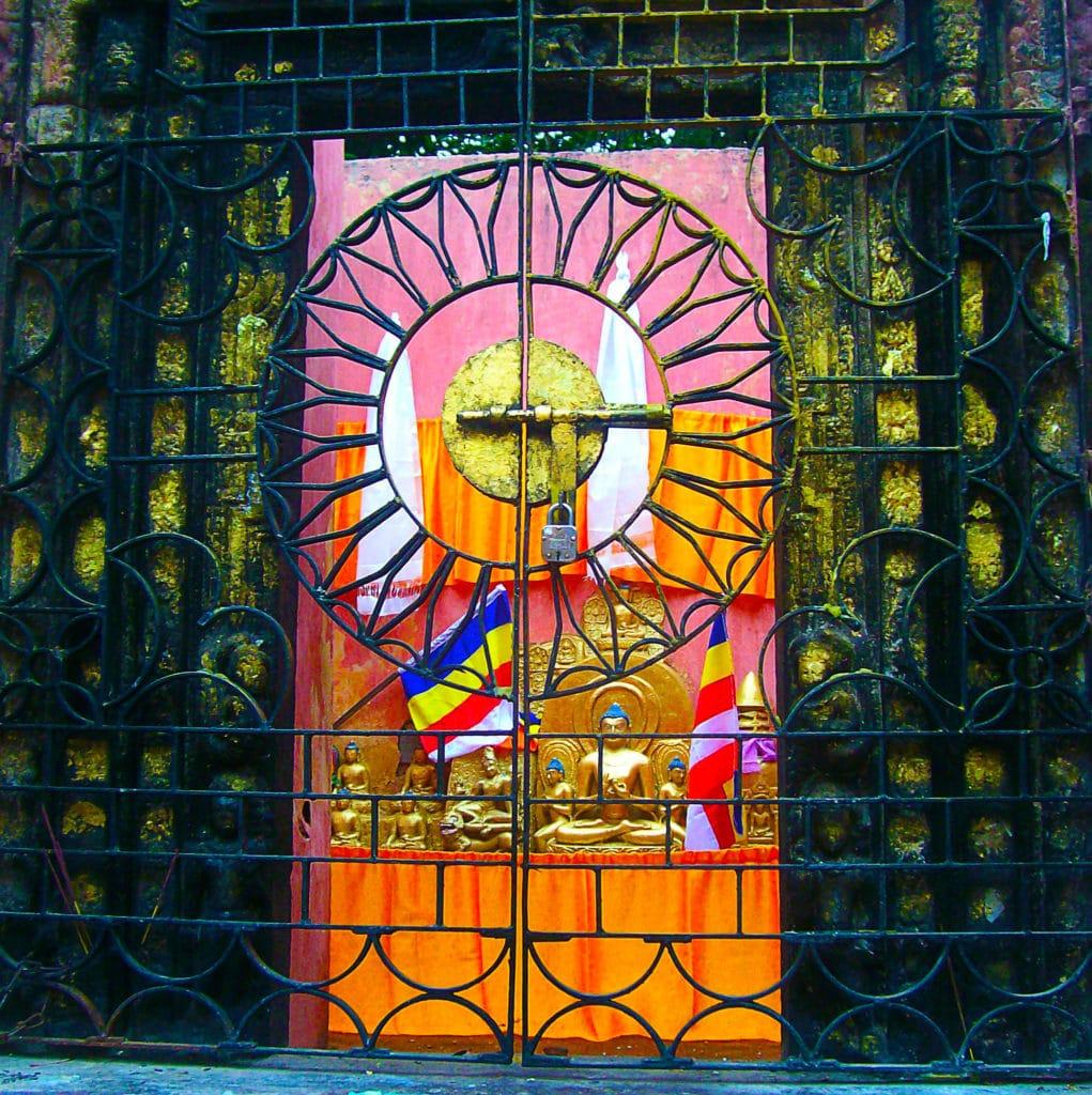 Bouddha à Bodhgaya, Bihar, Inde