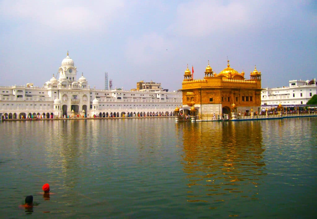 Le Golden Temple à Amristar, Inde.