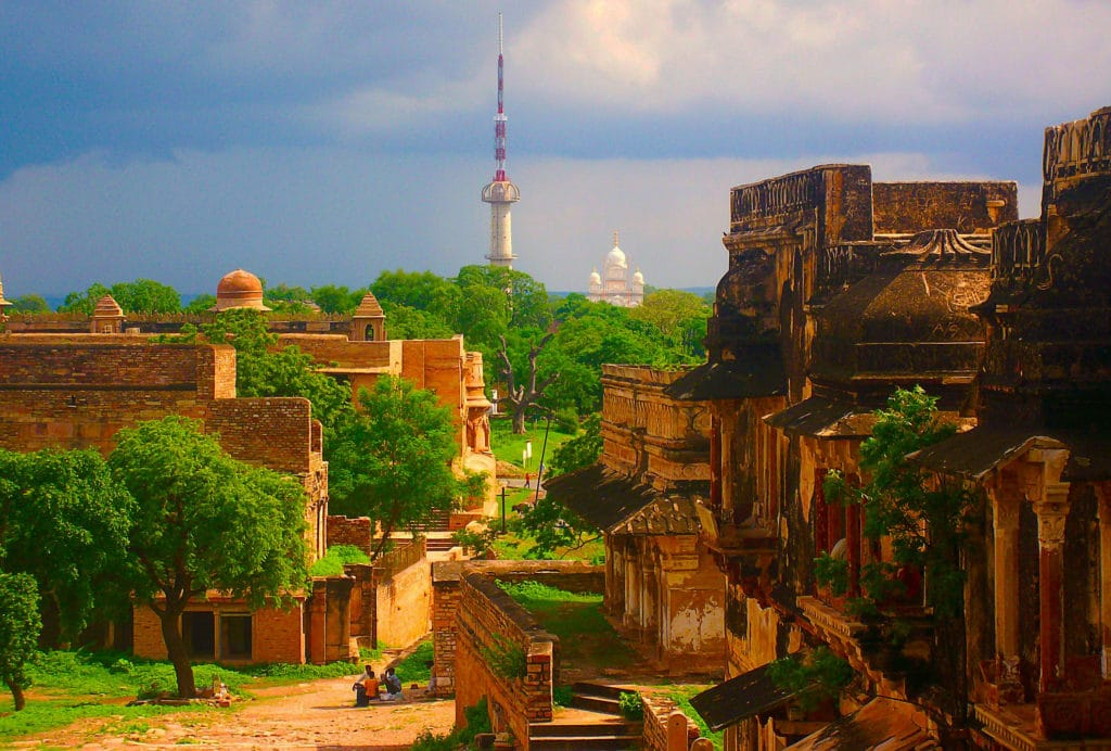 Colline de Gwalior dans l'état indien du Madhya Pradesh.