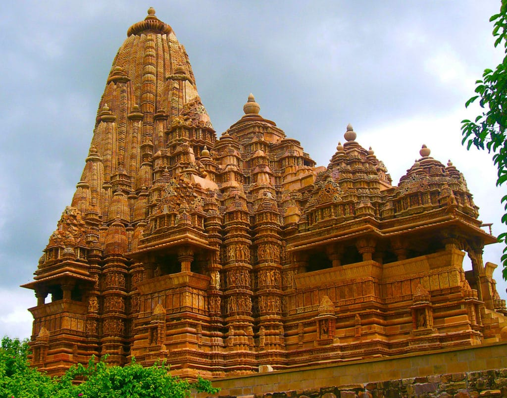 Les temples de Khajuraho dans l'état indien du Madhya Pradesh.