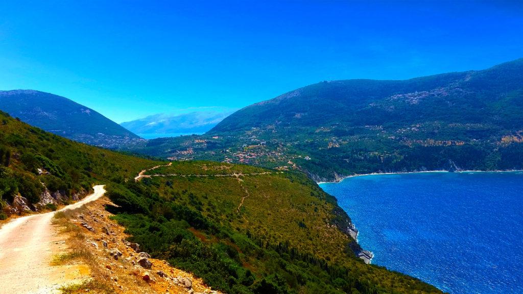 La baie d'Afalès au nord d'Ithaque, Grèce