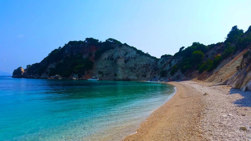 la plage de Gidaki à ithaque, Grèce