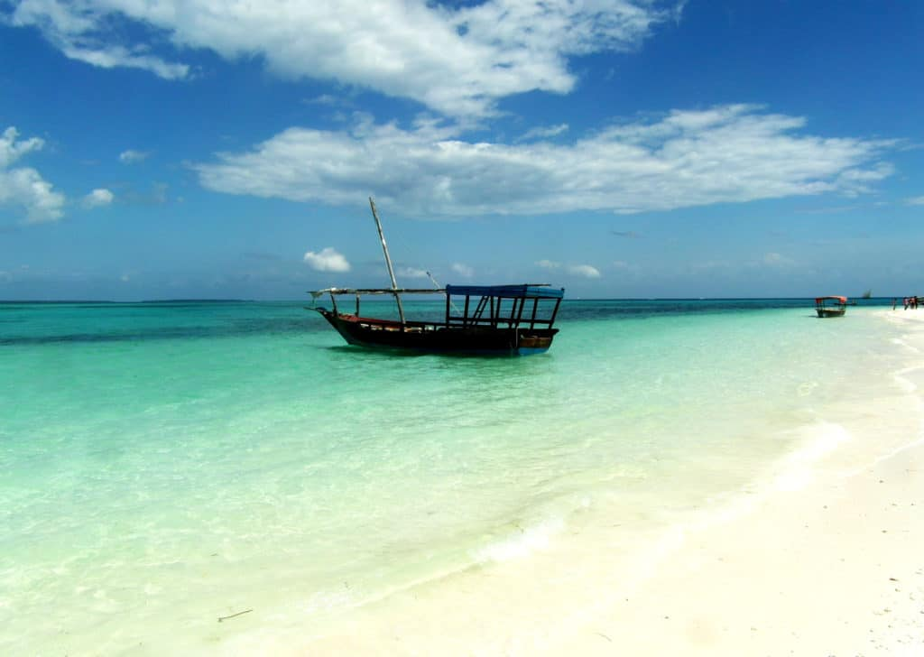 la plage de Kendwa à Zanzibar, Tanzanie