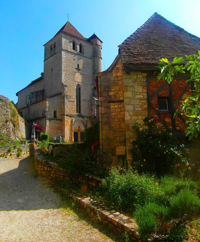 Les ruelles de Saint Cirq Lapopie dans le Lot, classé parmi les plus beaux villages de France