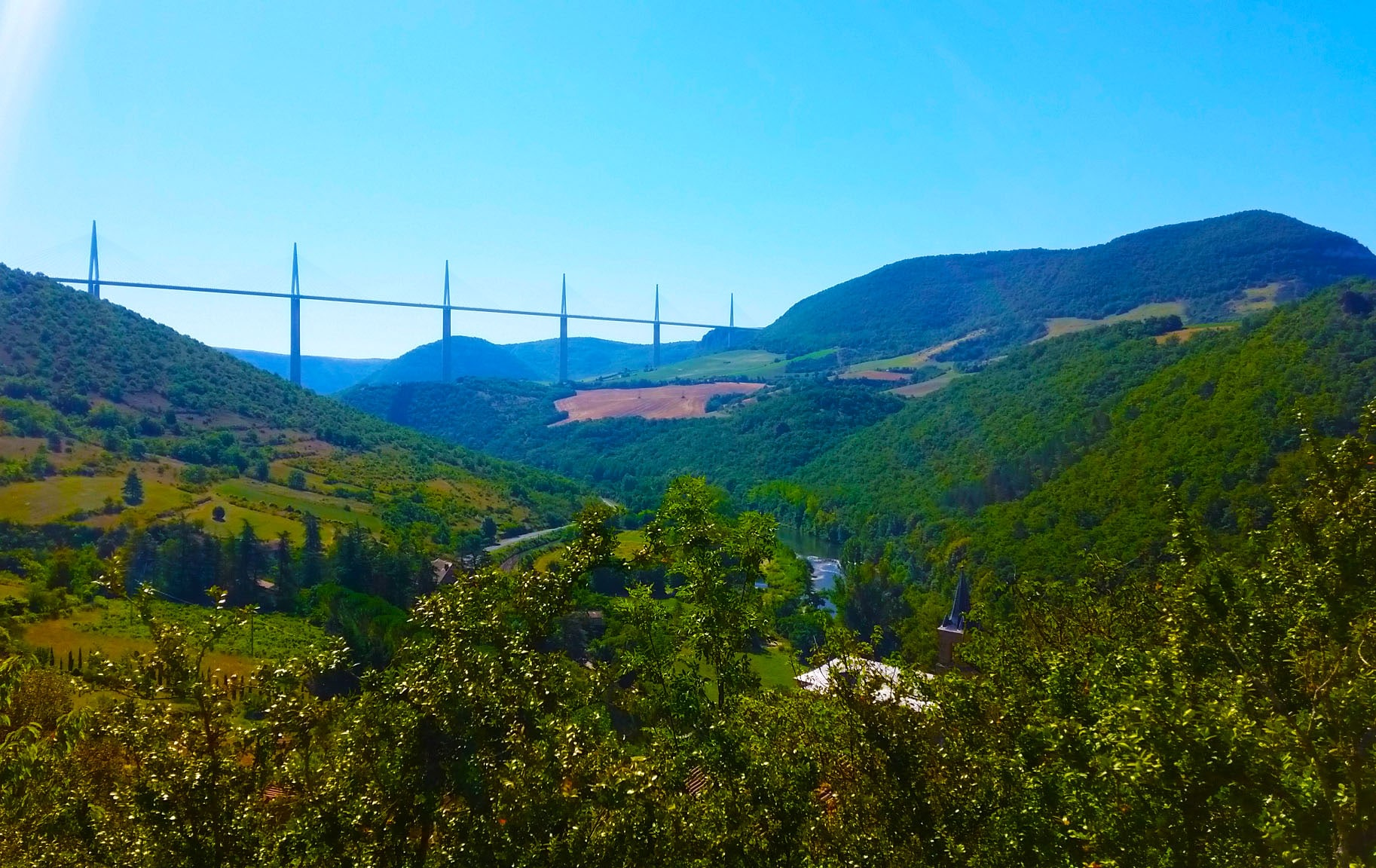Le viaduc de Millau, Aveyron