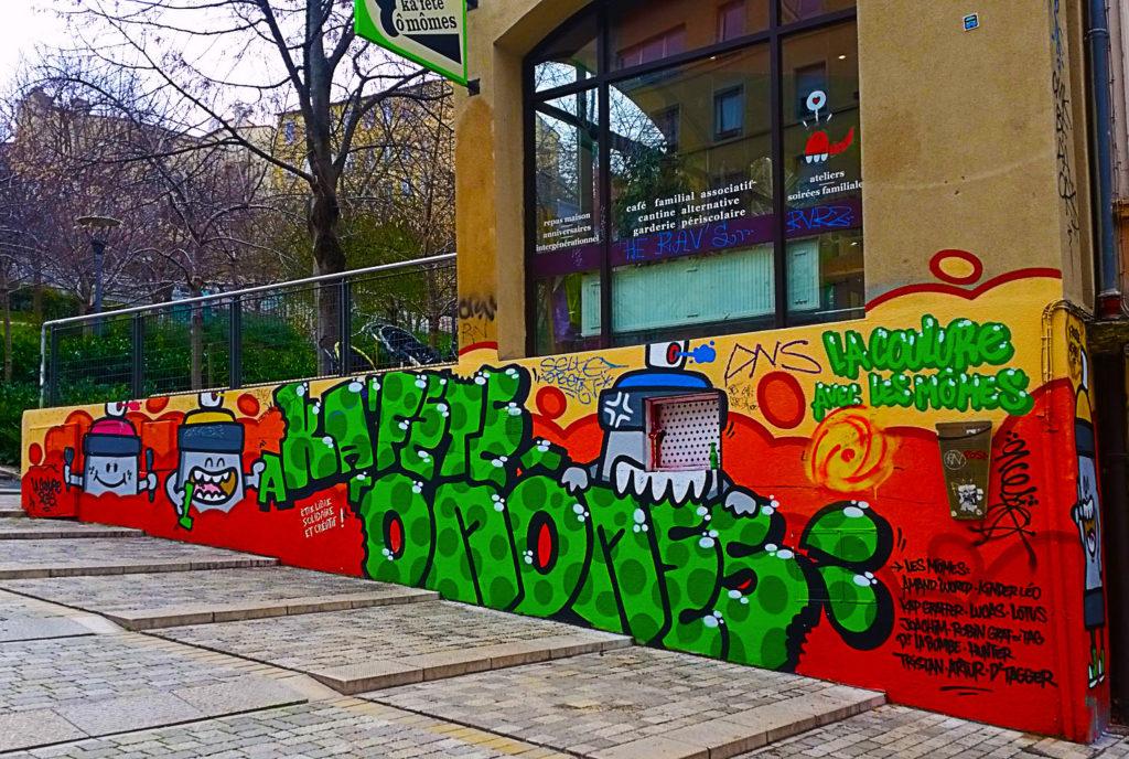la grande montée de la Croix Rousse en street art, Lyon
