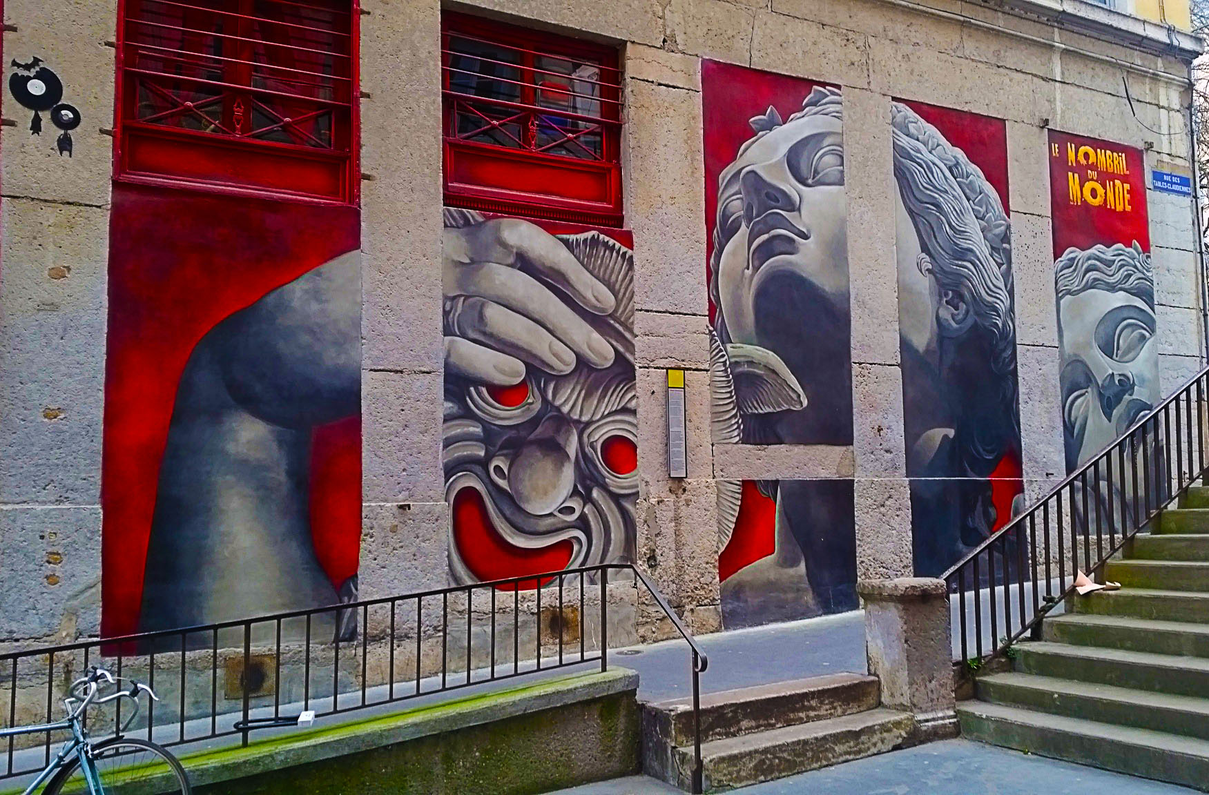 street art rue des Tables Claudiennes à la Croix Rousse, Lyon