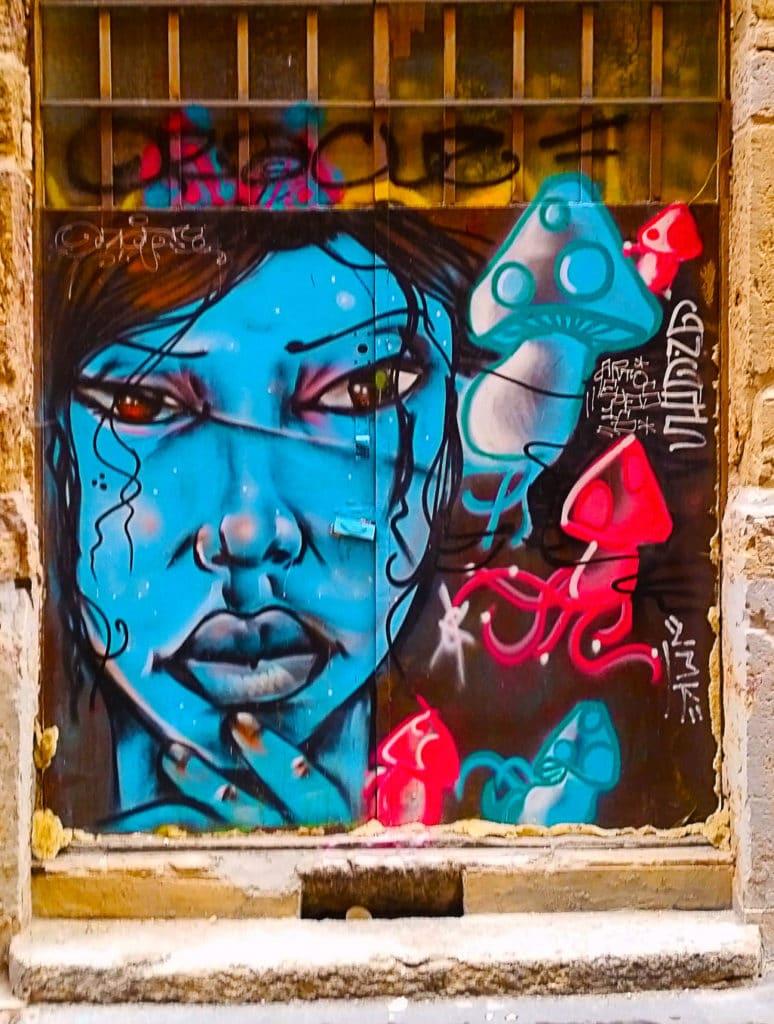 Avatar en street art, rue Romarin à la Croix Rousse, Lyon