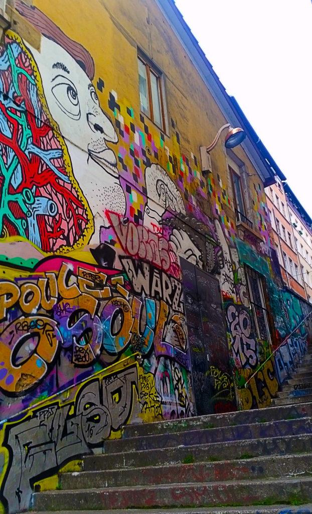 street art, rue des Tables Claudiennes à la Croix Rousse, Lyon