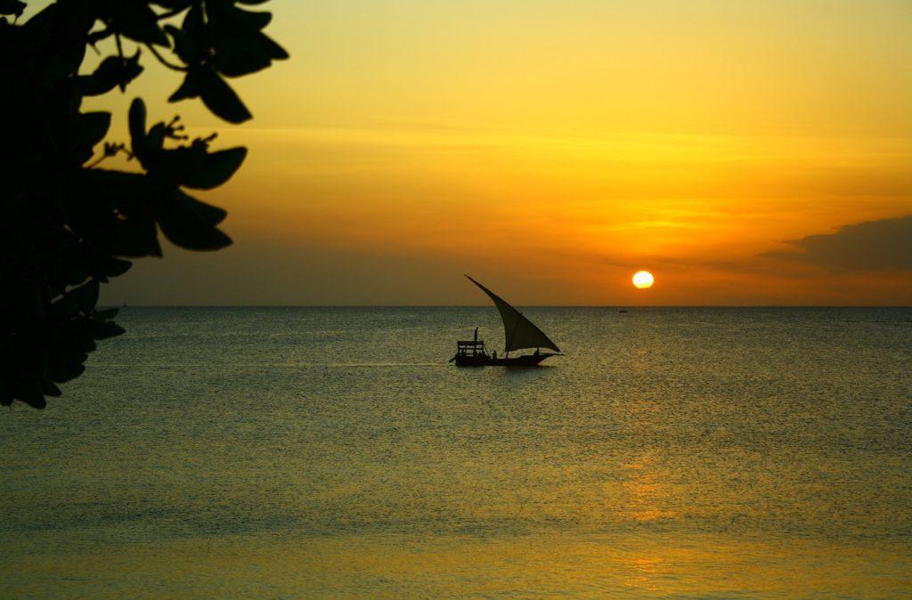 Couché de soleil à Zanzibar, Tanzanie