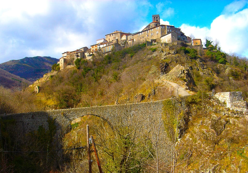 Antraigues sur Volane en Ardèche