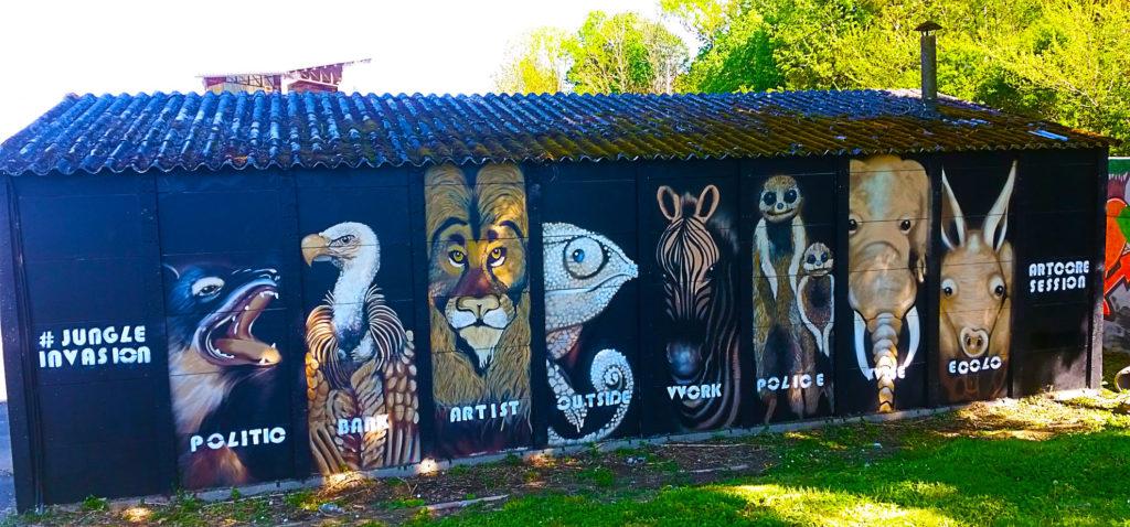 Protégeons la nature avec Art Core Session à la Street Art City à Lurcy-Lévis, Allier