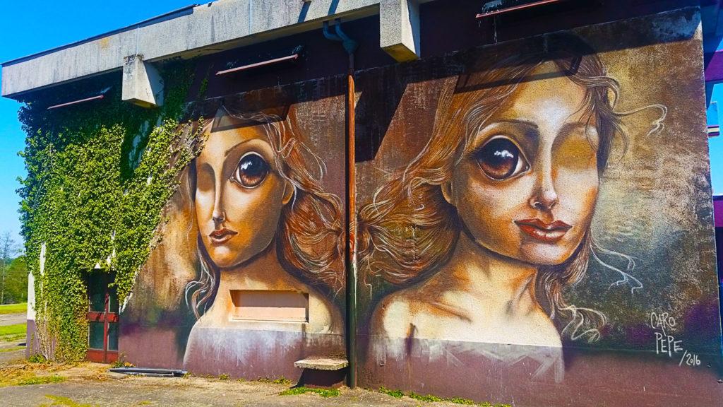 La street artiste Caro Pepe à la Street Art City de Lurcy-Lévis, allier
