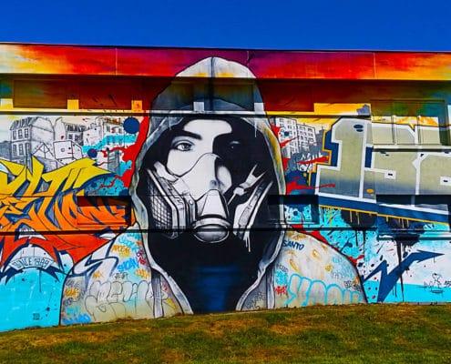 Crey 112 à la Street Art City à Lurcy-Lévis, Allier