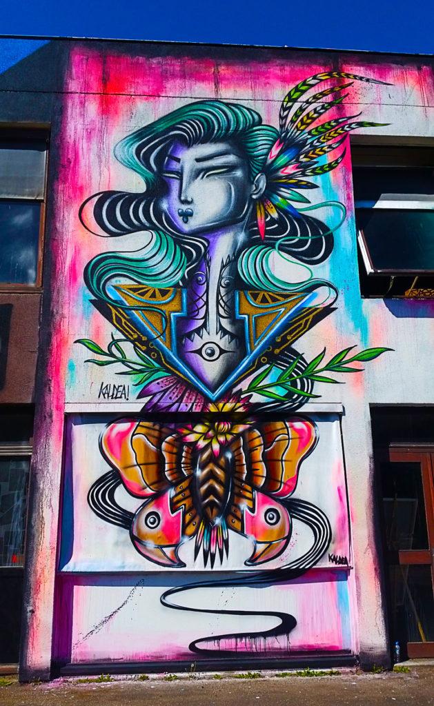 La poésie de Kaldea à la Street Art City de Lurcy-Lévis, Allier