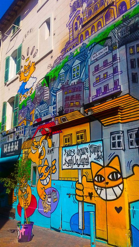 le street art de Mr Chat au Cours Julien à Marseille