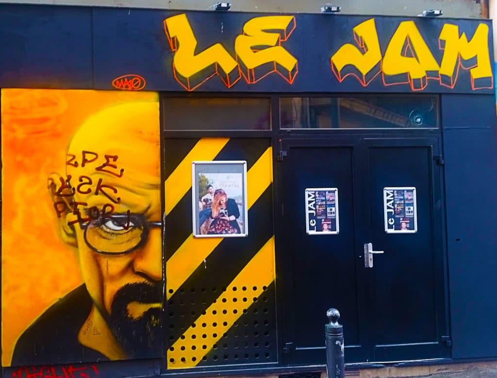 Walter White Aka Heisenberg en street art au Cours Julien, Marseille