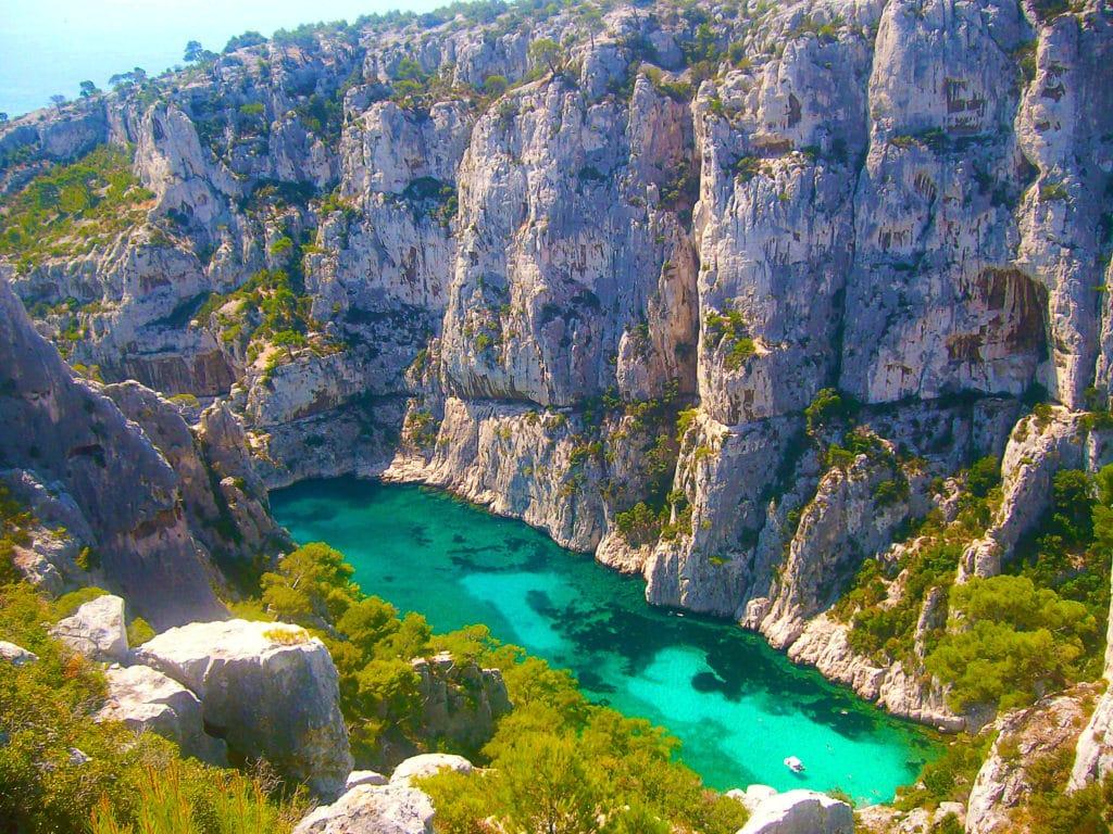 La calanquue d'En-Vau entre Cassis et Marseille