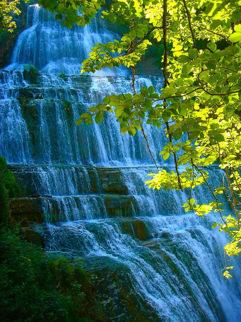 Les cascades du hérisson dans le Jura