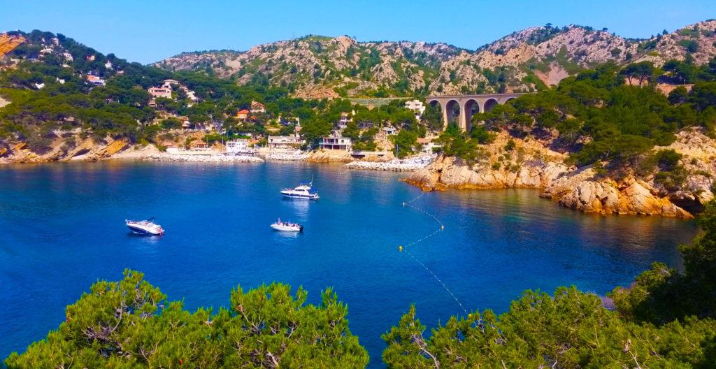 Côte bleue entre Marseille et Martigues