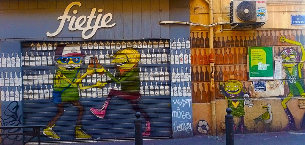 le street art de Nhobi Cours Julien à Marseille