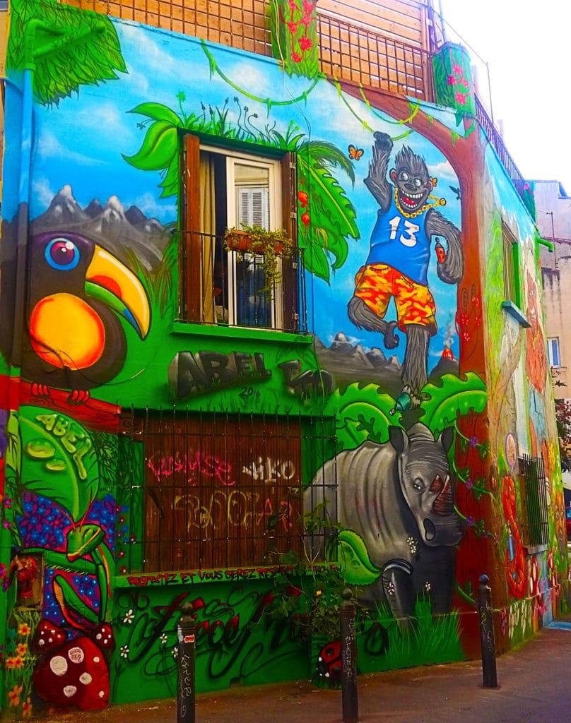 Rhino en street art, Cours Julien Marseille