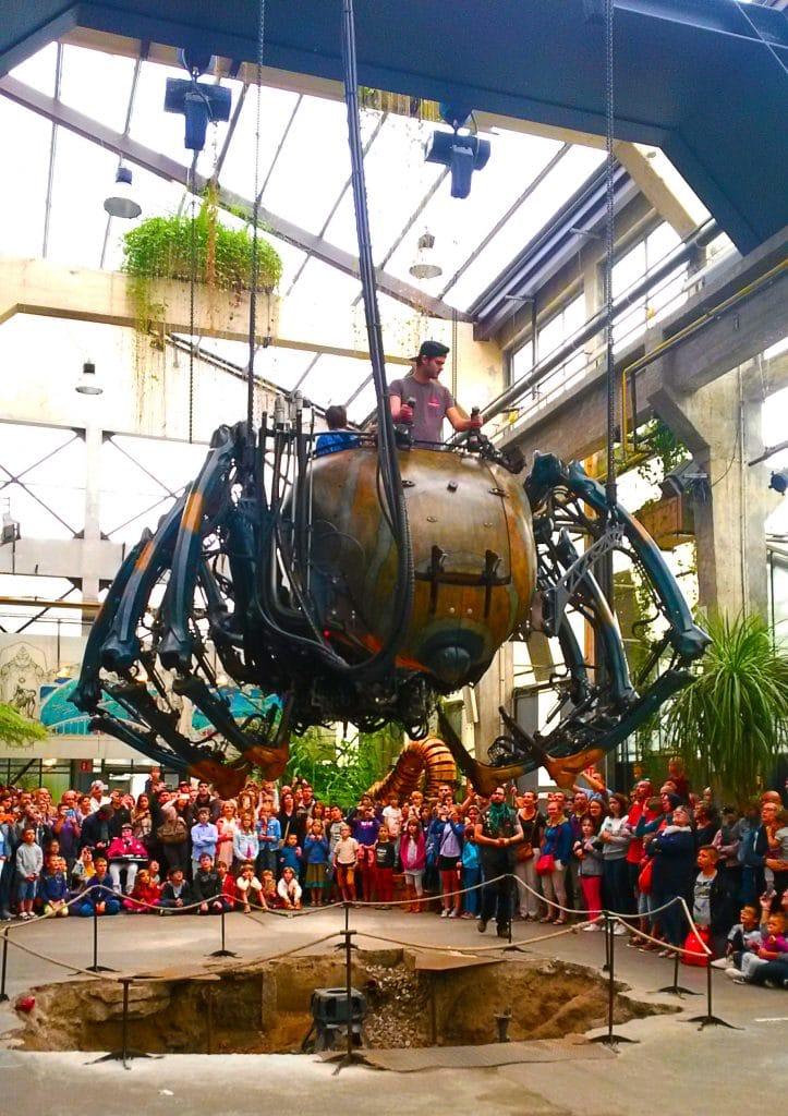 L'araignée de la Galerie des machines sur l'île de Nantes.