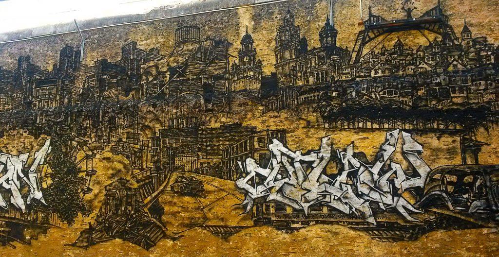 street art dans l'ancienne Maison d'Arrêt de Nantes.