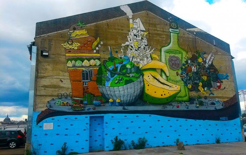 street art sur l'île de Nantes.