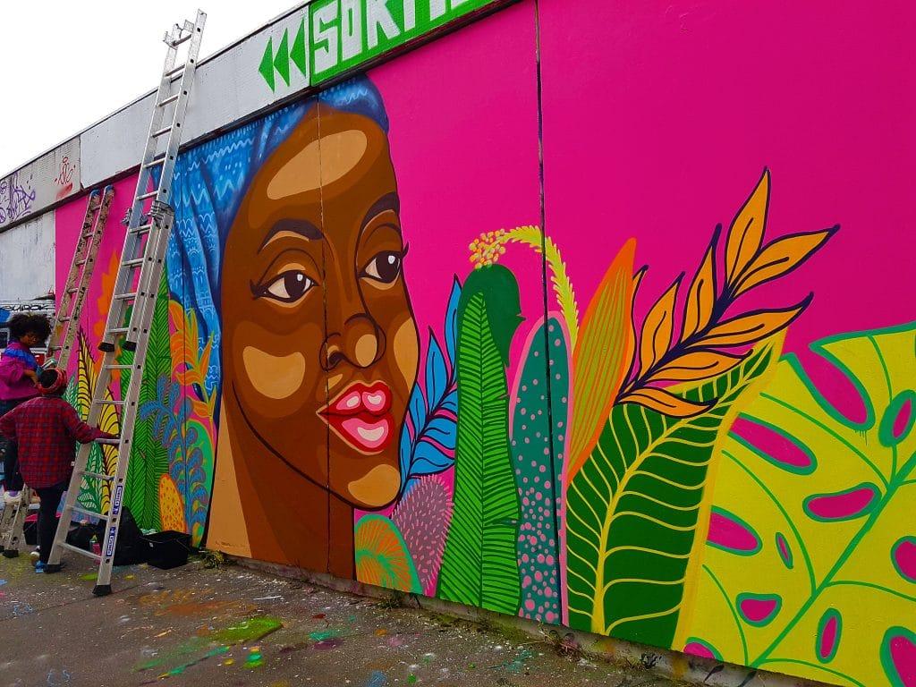 la street artiste colombienne Joyce au TrubLyon Street Art Festival.