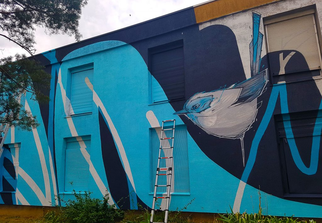 le street artiste lyonnais Monsta au TrubLyon Street Art Festival