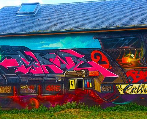 Mon test de la Street Art City à Lurcy-Lévis.