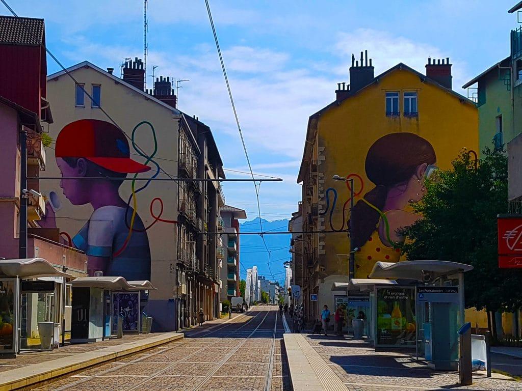 street art de Set à Fontaine près de Grenoble.