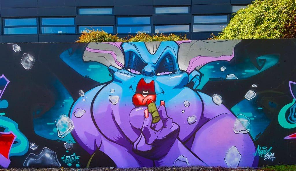 Artiste inconnu, sublime street art coloré à Grenoble