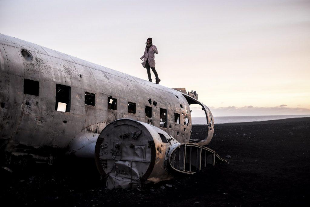 Sur un avion crashé en Islande par Cobalt State, voyage et photographie
