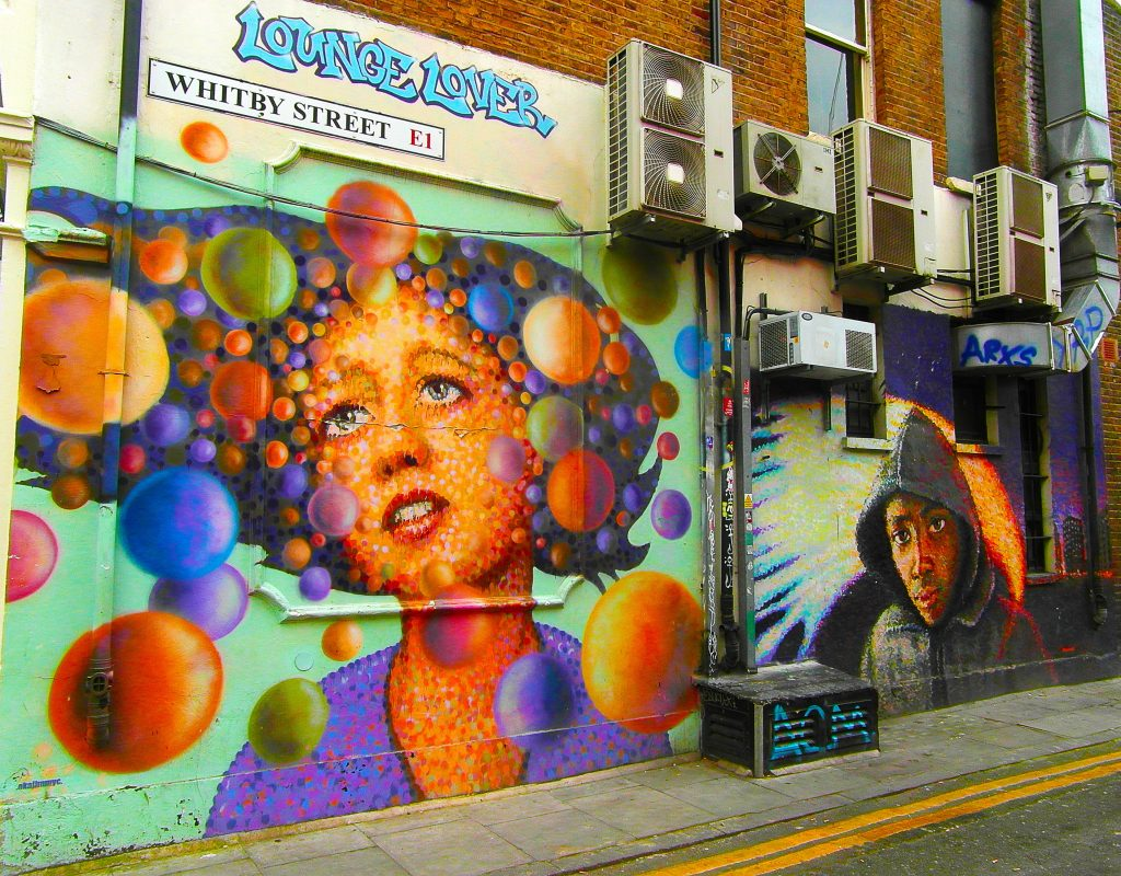 Street art de Jimmy C sur Whitby Street, balade en 10 photos à Londres