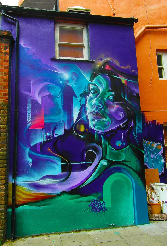 le street art de Mr cenz à Shoreditch, Londres