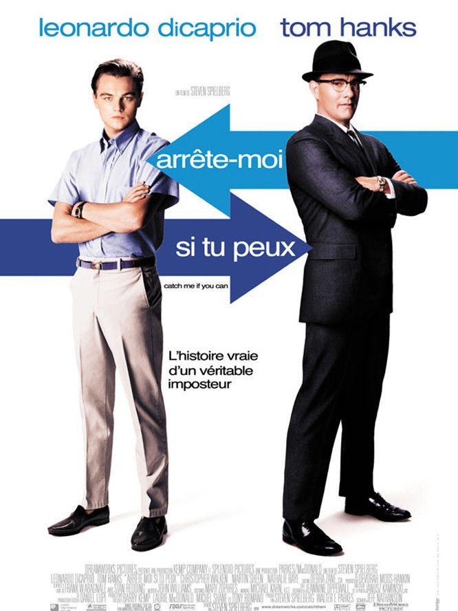 Arrète-moi si tu peux avec Léonardo Caprio et Tom Hanks pour illustrer le principe de l'autorité du livre Influence et Manipulation de Cialdini.