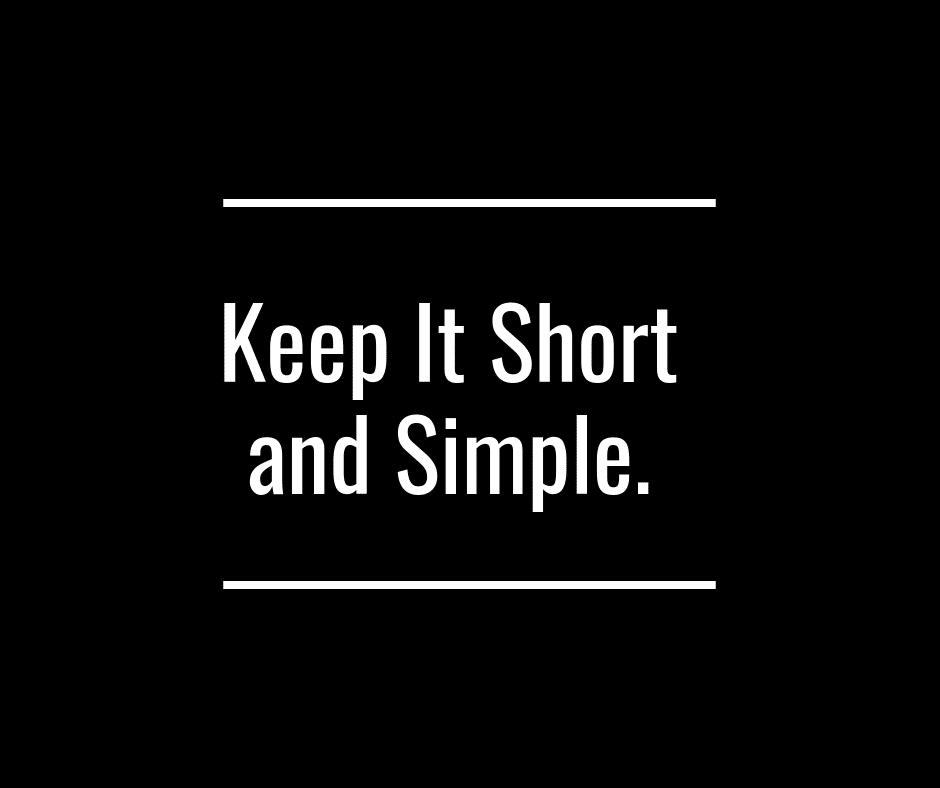 Faire court et simple pour réussir ta présentation