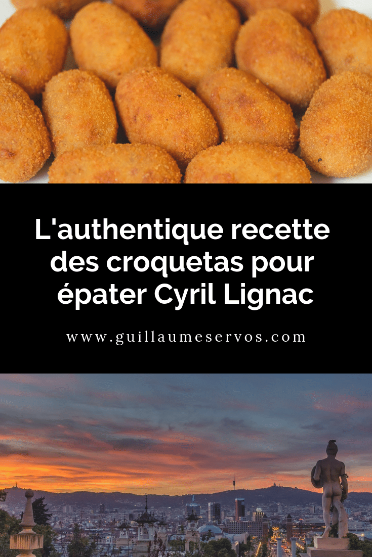 Découvre la recette de cuisine des fondantes croquetaspour épater Cyril Lignac. Voyageons avec ce tapas en Catalogne et plus particulièrement à Barcelone sur les pas de mes souvenirs culinaires.