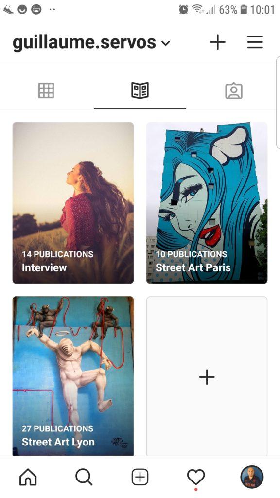La page d'accueil des guides Instagram