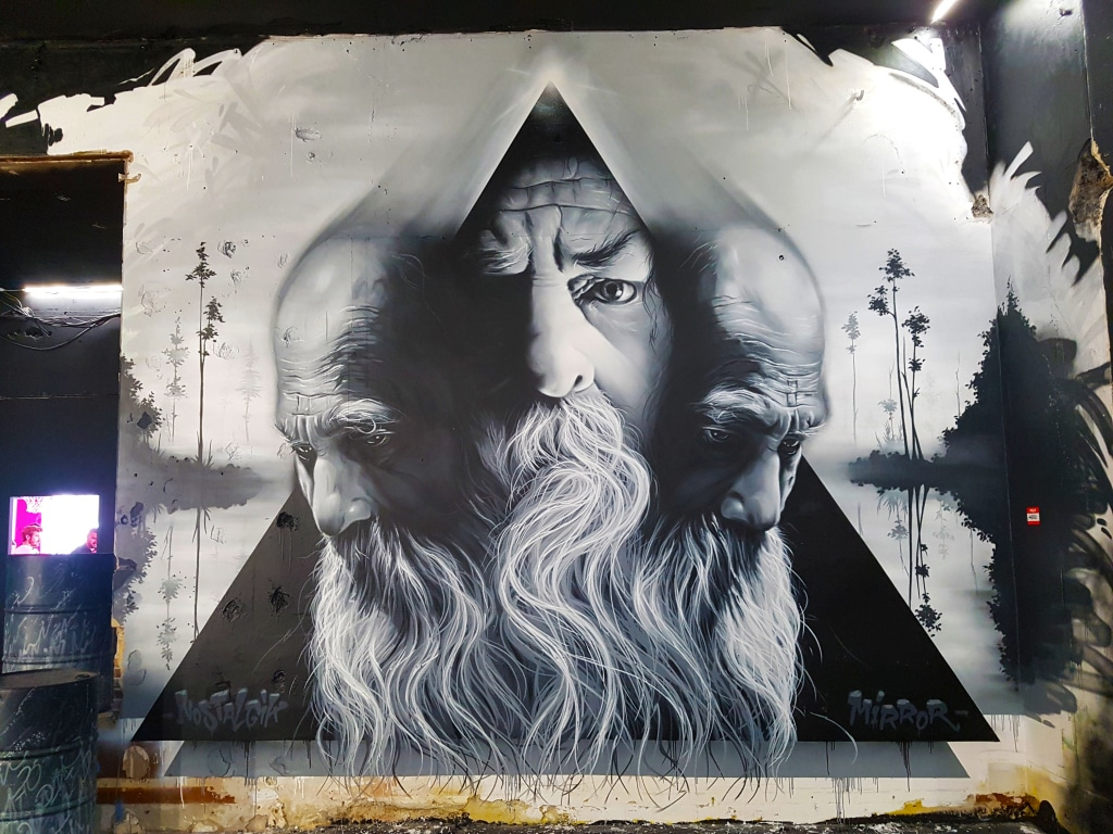 Le street artiste rennais Aero à Zoo Art Show 2 à Lyon.