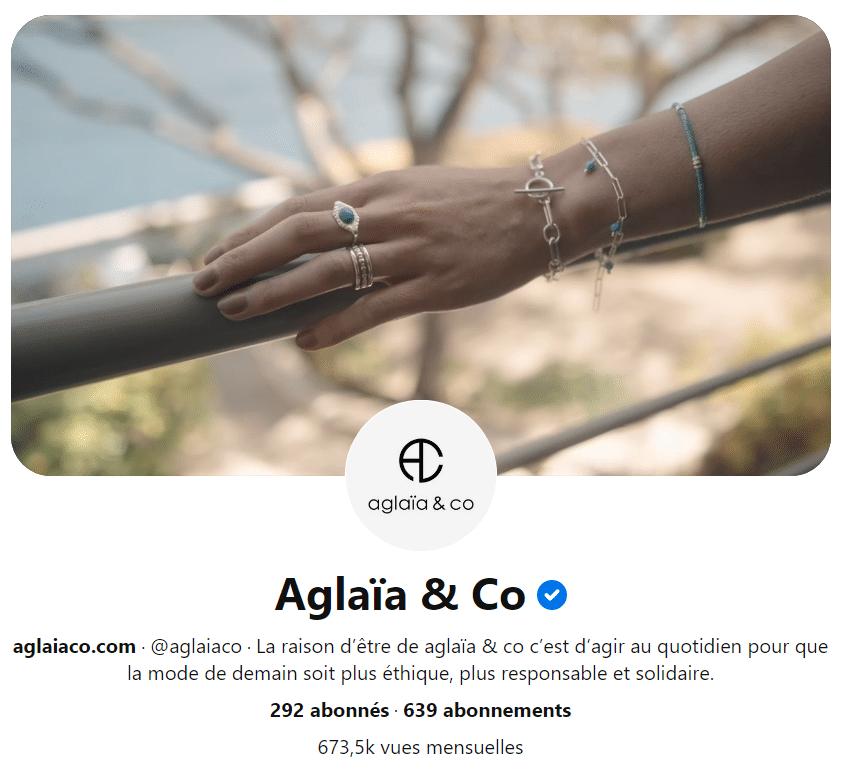 Le profil Pinterest d'Aglaïa & CO